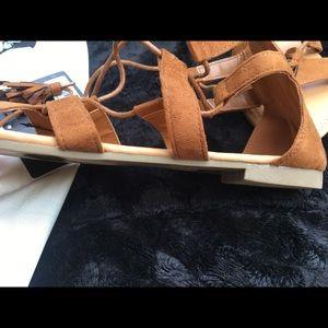 Forever 21 Shoes - Forever 21 camel color gladiator sandals size 6-8